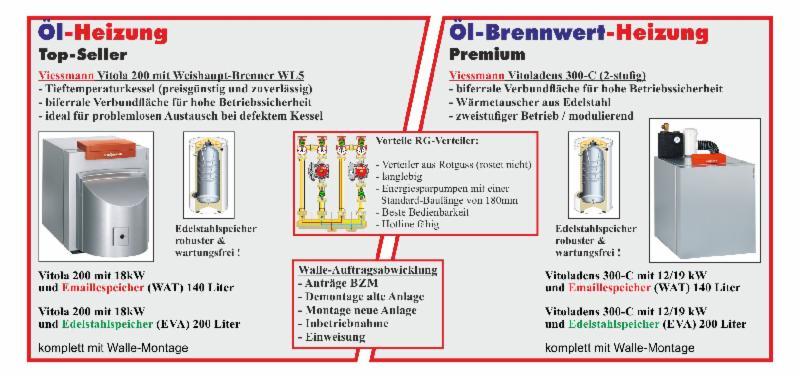 Ölheizung - Walle in Wallau GmbH - die Heizung